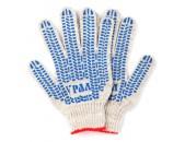 Перчатки вязаные х/б с ПВХ напылением, 7 класс, белые