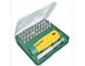 Kraftool Набор бит 25 мм в боксе с магнитным адаптером, 32 предмета GRAND-32