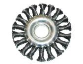 ЕРМАК Щетка металл 100мм/22мм, крученая дисковая