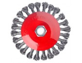 ЕРМАК Щетка металл  85мм-М14 крученая тарелка